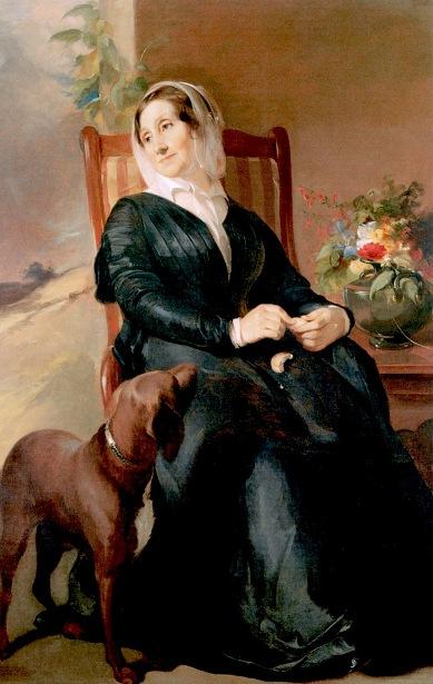 Sarah Sully And Her Dog, Ponto