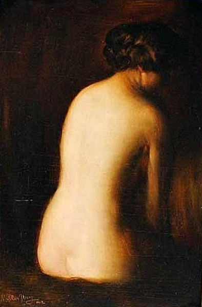 Seated Nude Lady